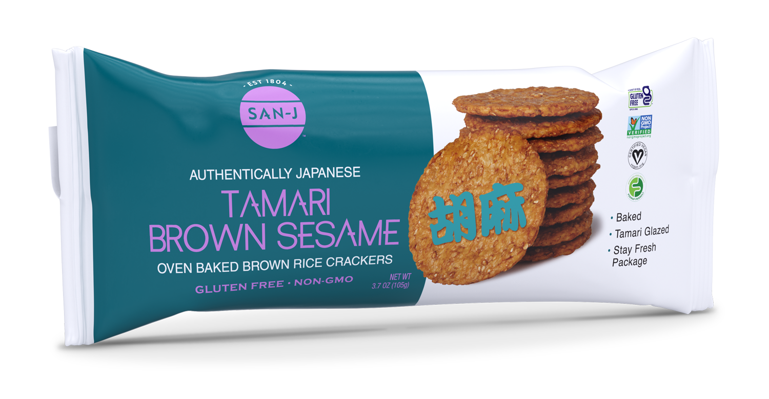 San j tamari brown sesame crackers 2021 no bg w shadow