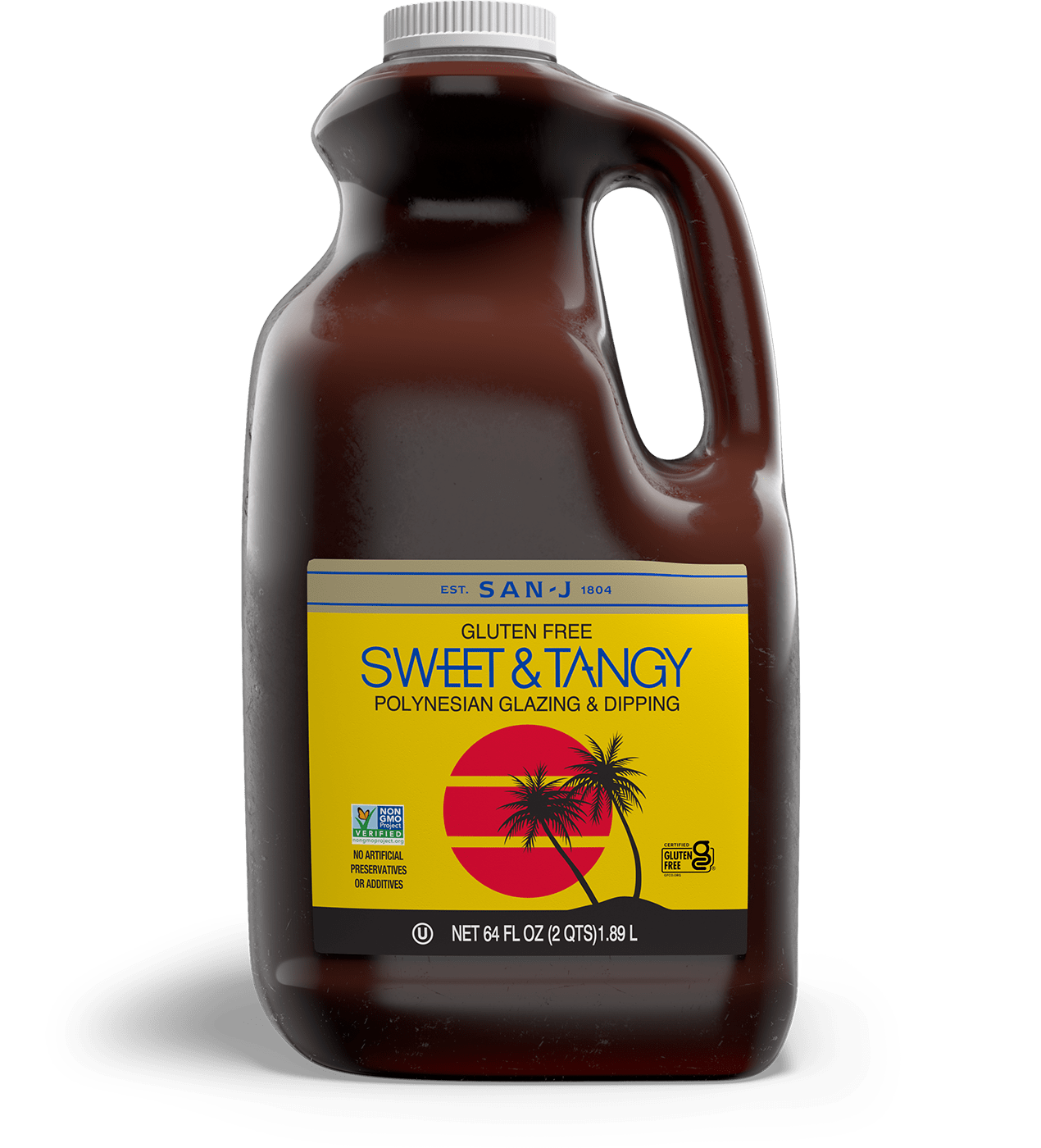 San j sweet and tangy asian cooking sauce food service 64oz