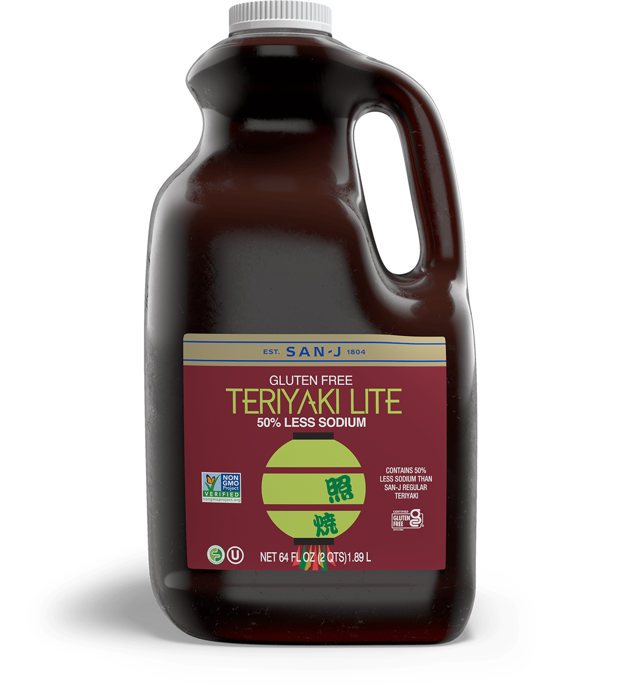 San j teriyaki lite asian cooking sauce food service 64oz