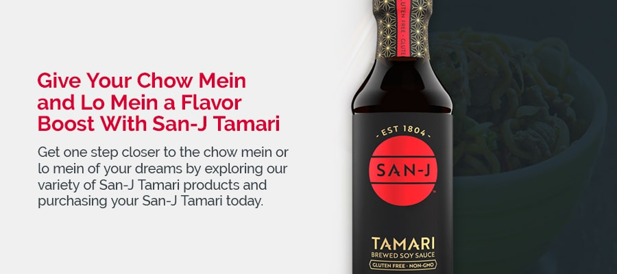 Give Your Chow Mein and Lo Mein a Flavor Boost With San-J Tamari